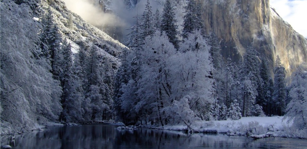 Yosemite National Park Winter Scene